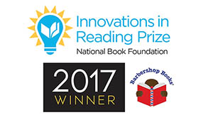 BARBERSHOP BOOKS-INNOVATIONS READING PRIZE-BADGE
